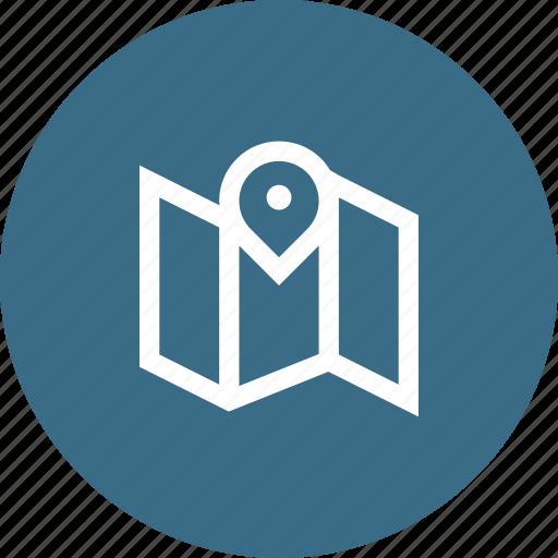 location, map, navigation, pin, target icon