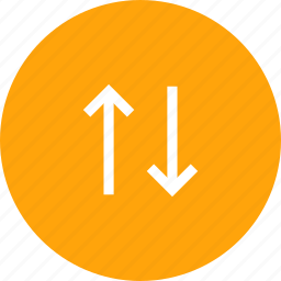 arrow, direction, down, path, up icon