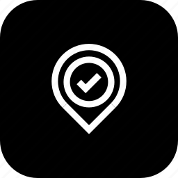 approve, location, marker, pin, verified icon