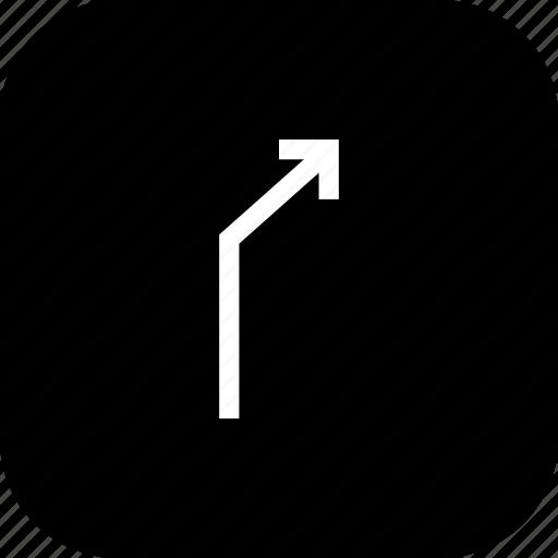 arrow, direction, location, right, turn, way icon
