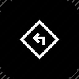 arrow, direction, left, sign, wayz icon
