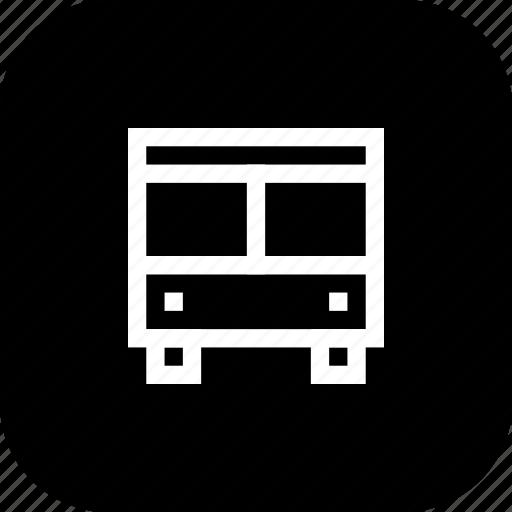 automobile, bus, public, transportation, vehicle icon