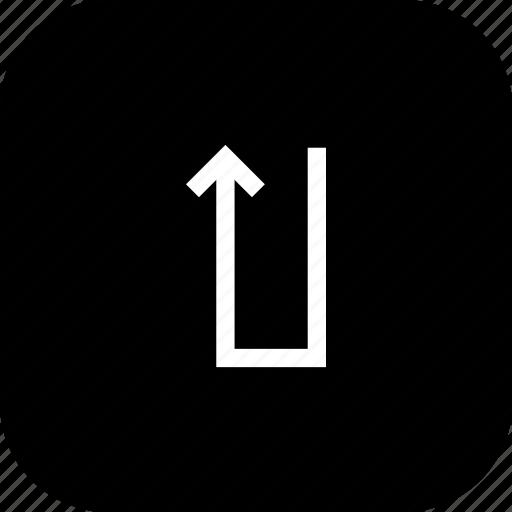 direction, location, road, stright icon