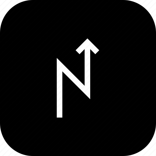 arrow, direction, location, road, straight, zigzag icon