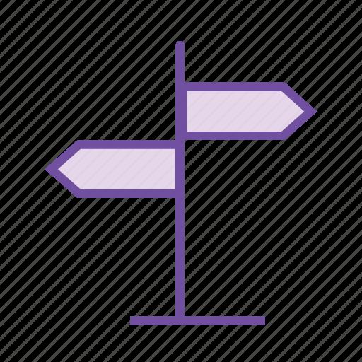 direction arrow, direction board, direction post, navigation board, street board, street sign icon