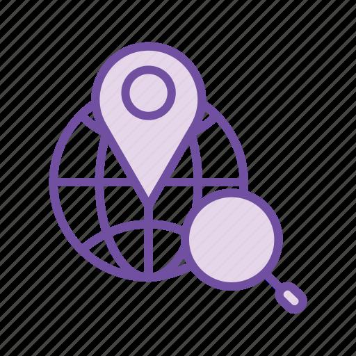find location, locate address, map, search address, search location icon