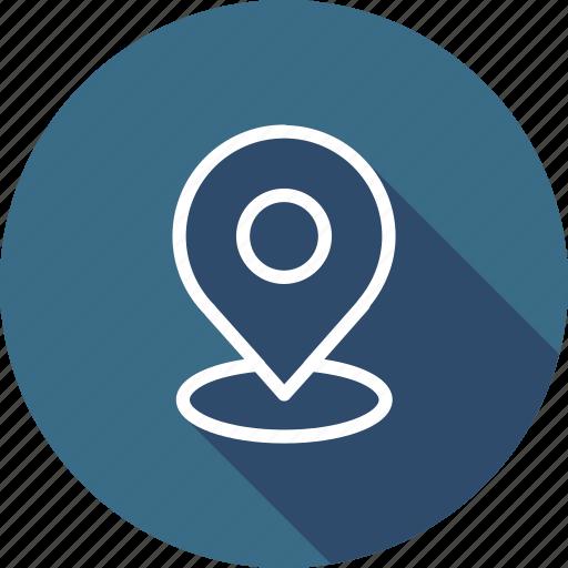 gps, location, map, marker, navigation icon