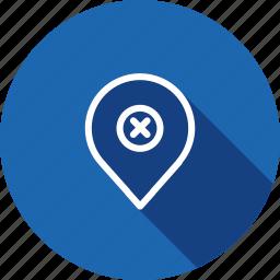 false, geo, location, map, navigation, pin, wrong icon