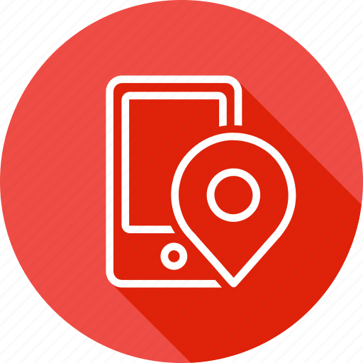 cell, gps, mobile, online, phone, pin, web icon
