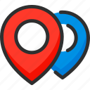 location, marker, pin, place, pointer, position icon