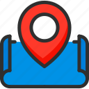 location, map, marker, pin, pointer, position icon