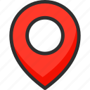 location, marker, pin, pointer, position icon