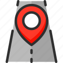 location, pin, pointer, position, road, trip, way
