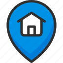 home, location, pin, pointer, position icon