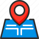 location, map, pin, pointer, position, road, trip icon