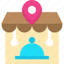 location pin, meal, place, pointer, restaurant