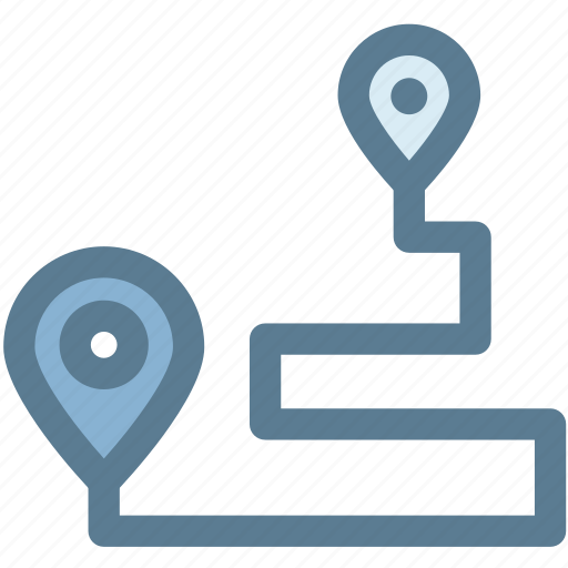 location, map, navigation, pin, position, route icon