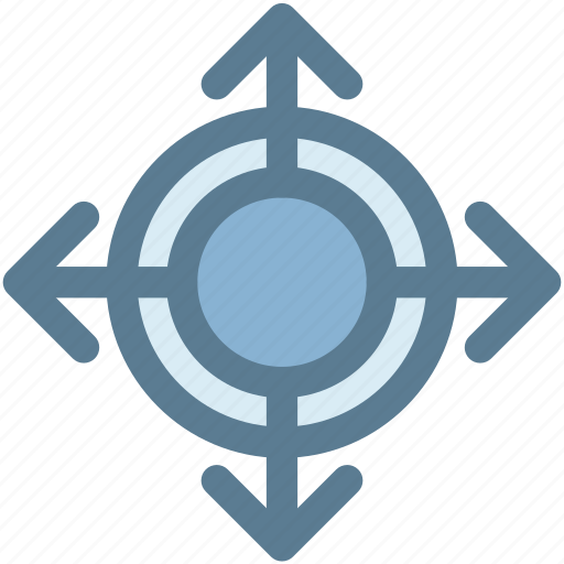 arrow, arrows, expand, expanded, full, location, map icon
