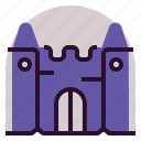 castle, holiday, location, vacation icon