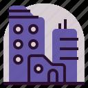 city, holiday, location, vacation icon