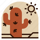 cactus, desert, holiday, location, vacation icon
