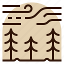 forest, holiday, location, trees, vacation icon