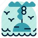 holiday, island, location, vacation icon