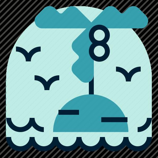 holiday, island, location, vacation icon