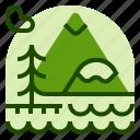 holiday, lake, location, vacation icon
