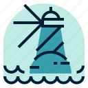 holiday, lighthouse, location, vacation icon