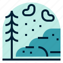 holiday, location, mountain, snow, vacation icon