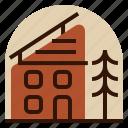 holiday, hut, location, mountain, vacation icon