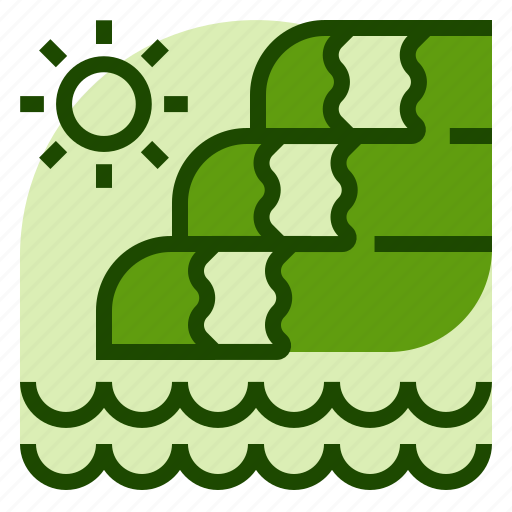 holiday, location, vacation, water, waterfall icon