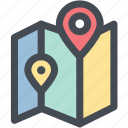 google map, location, map, navigation, navigator, pin, position icon