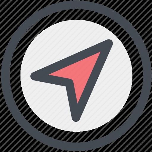 cursor, location, map, navigation, pin, position icon