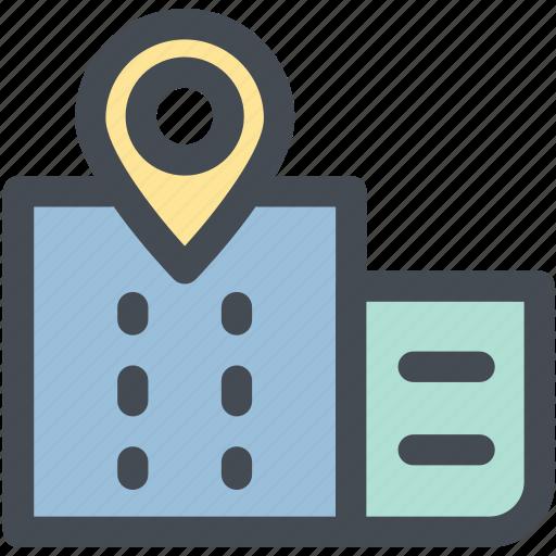 building, building location, company, location, office, position icon