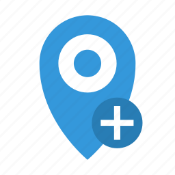 add, distance, location, marker, place, plus, point icon