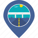 highway, marker, navigation, road, tourism, transportation, travel icon