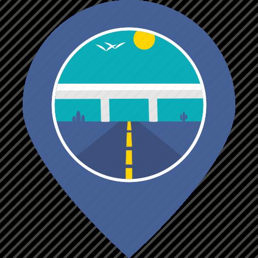 highway, marker, navigation, road, tourism, transportation, travel icon