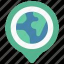 earth, maps, gps, point, world