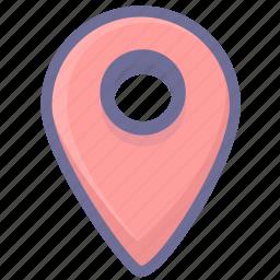 location, navigation, position icon