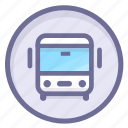 bus station, location, navigation icon