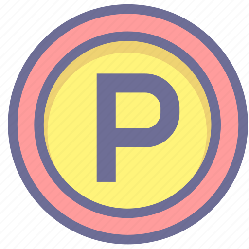 car parking, location, parking, position icon