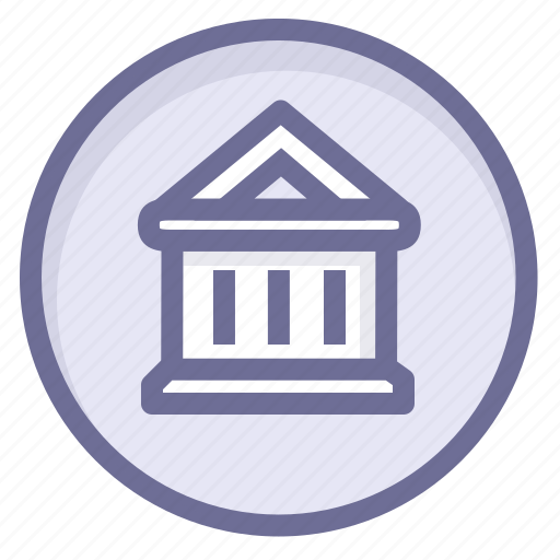 bank, location, navigation, position icon