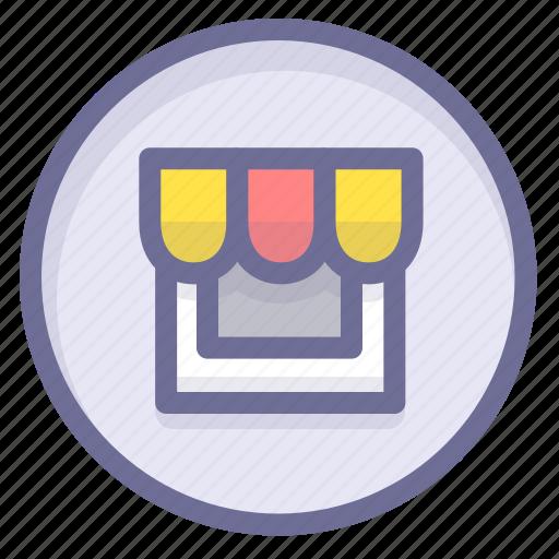location, navigation, position, shop icon