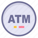 atm, location, position icon