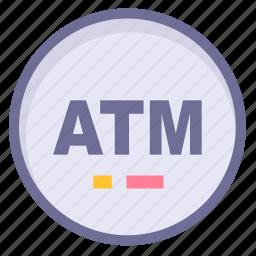 atm, location, position icon