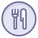 location, navigation, restaurant icon