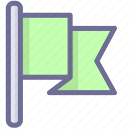 flag, navigation, position icon