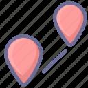 distance, location, navigation icon
